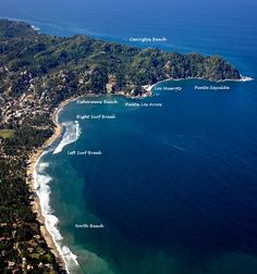 A view from the top of tropical Sayulita, Nayarit, Mexico Riviera Nayarit. Check out the surf spots!  Sayulita, Mexico www.casitassayulita.com