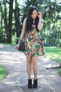 Vestido floral !look-evento-mary-kay