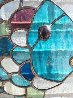 Detail ~ Mooiste vis van de zee ~ Stained Glass ~ Tiffany ~ Blue ~ Arrow Glass