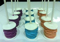 Colorful Spools of Thread Cake Pops