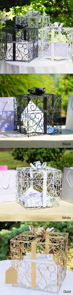Card Holder Boxes on Pinterest Card Boxes, Wedding Cards and Gift ...