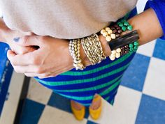 arm party ….noonday collection tangled bead bracelets