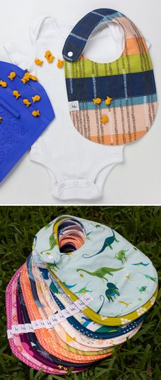 "Charlie Bib | Hemming Birds Boutique. Colorful, fun and machine washable!  Made to be your ""go-to"" bib and adorable for outings.  Gender neutral plus designs for girls and boys.  Thoughtfully designed with no velcro, side snap and with absorbent material.  Makes a perfect baby gift."