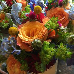 summer flowers for Stowe wedding