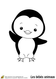 1000 images about coloriages esquimaux et banquise on pinterest husky bebe and trains - Coloriage minable le pingouin ...