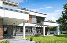 Projekt domu Willa Floryda 4 327,82 m2 - koszt budowy - EXTRADOM Storage Places, Home Fashion, Modern House Design, Home Projects, Pergola, Outdoor Structures, Mansions, House Styles, Outdoor Decor
