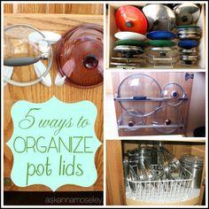 5 ways to organize pot lids - Ask Anna