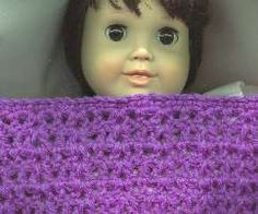 Doll Blanket Pattern For Beginners and V-Stitch Photo How-To