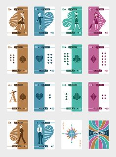 Pan Am Playing Cards by Lisa Lam, via Behance Game Card Design, Board Game Design, Playing Cards Art, Deck Of Cards, Card Deck, My Themes, Life Hacks, Elements Of Art, Custom Cards