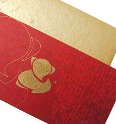 Modern Ganesha Invitation with Bronze Envelope