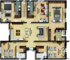 Square House Plans, Classic House Exterior, Fantasy House, Master Room, Home Office Chairs, House Layouts, Iphone Wallpaper, Floor Plans, Flooring