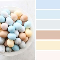 100 Color Inspiration Schemes : Easter Egg Inspired Color Palette , pastel colors #easter #pastel #colorpalette