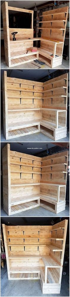 Wood pallet is recognized to be popularly used for the furniture creation. Hence here we will present you with quite another such unique idea for you! Wood Pallet Recycling, Pallet Crafts, Diy Pallet Projects, Home Projects, Wooden Pallet Furniture, Wooden Pallets, Repurposed Furniture, Furniture Makeover, Diy Furniture