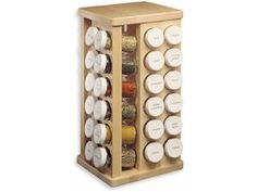 Maple 48-bottle Carousel Spice Rack by JK Adams by JK Adams at Cooking.com #holidaycooking