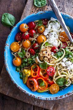 Farmers Market Sesame Miso Noodle Bowls with Garlic Chips, vegan option halfbakedharvest.com @hbharvest