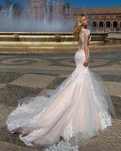 Oksana Mukha Wedding Dresses 2017 ❤ See more: www. Oksana Mukha Wedding Dresses 2017 ❤ See more: www. Dream Wedding Dresses, Designer Wedding Dresses, Bridal Dresses, Wedding Gowns, 2017 Wedding, 2017 Bridal, Maxi Dresses, Gown Designer, Vestido Dress