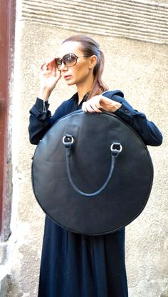 NEW  Black Genuine Leather Bag / High Quality  Tote by Aakasha
