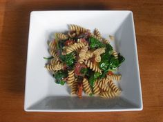 Pasta w/ Chorizo, bell peppers, & spinach