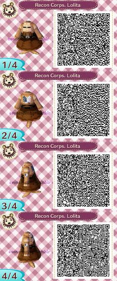 Attack on Titan animal crossing new leaf qr code