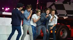Newfound 3D movie-stars One Direction perform during the Closing Ceremony of the London 2012 Olympic Games at Olympic Stadium on August 12, 2012