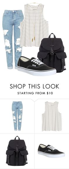 """""""school"""" by grraciie-386 on Polyvore featuring Topshop, Herschel, Vans, Bølo, men's fashion and menswear"""