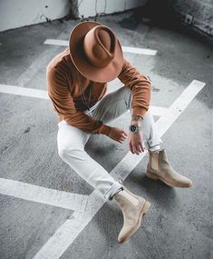 44 Men Boots Ideas Combination With Casual Outfit – style ideas Chelsea Boots Outfit, Men Looks, Hipster Stil, Style Streetwear, Fashion Hashtags, Moda Blog, Casual Outfits, Men Casual, Mens Boots Fashion