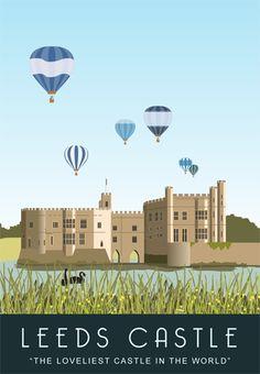 Hot Air Balloons over Leeds Castle, Kent