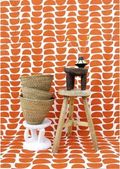 Baskets and stools from Southern Africa by DESIGN AFRIKA  - http://www.designafrika.co.za   Fabric by http://skinnylaminx.com