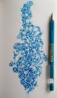 Gel pen patterning by Gentian Osman