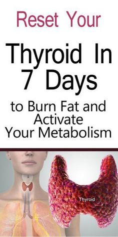 Reset your thyroid in just 7 days and burn fat to activate your fat-burning metabolism. Your thyroid is what helps you burn fat, but if it is suppressed, it will cause you to gain weight. Read more to learn how to boost your thyroid function and balance your hormones.