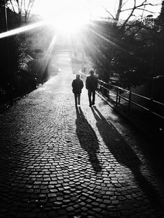 love the shadows and cobblestones