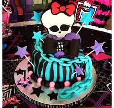 My first tilted cake, My 2nd Monster high cake