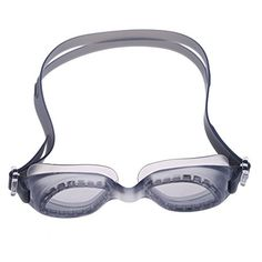 WinnerEco Silicon Conjoined Swimming Goggles Antifog PC Lens Diving Gray >>> Want additional info? Click on the image.