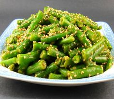 Green Beans with Sesame-Miso Sauce