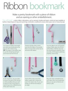 Tutorial: Ribbon bookmark. I've been wanting to try my hand at these and just haven't gotten around to it yet.