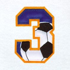 Zahl - Nummer - Number / 3 - Drei - Three (Fußball / Soccer)