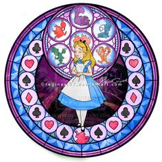 Alice - Kingdom Hearts Stain Glass by reginaac57.deviantart.com