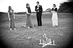 lawn games at a wedding? yes please.