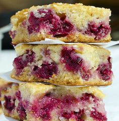 Cherry Bars with Sesame Seeds