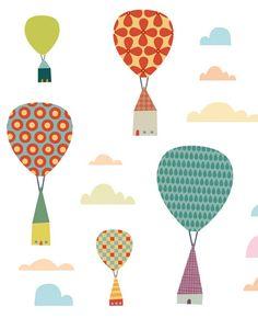I hot air balloons E Design, Cover Design, Pattern Design, Design Ideas, Balloon Illustration, House Illustration, Ballon, Air Balloon, Textures Patterns
