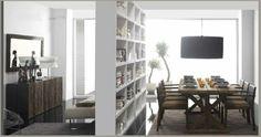 ¿Qué os parece esta combinación rústica de salón comedor? Ideal para separar espacios. Nos encanta.