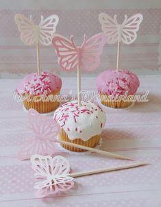 100x Vintage Kraft Paper Cupcake Topper Food Pick Wedding Decor I DO// LOVE