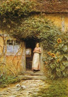 Helen Allingham - At the Cottage Door