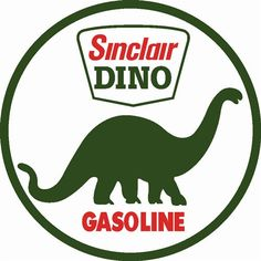 Sinclair Dino Gasoline, Powder Coated Enamel Steel Metal Advertising Sign, Vintage Reproduction, Gas Oil Garage Art, Wall Decor, SP196 by HomeDecorGarageArt on Etsy