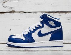 Nike Air Jordan 1 Retro High OG BG (575441-127) Storm blue New