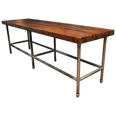 Industrial Butcher Block Table    Ooooh | For The Home | Pinterest | Butcher  Block Tables, Block Table And Butcher Blocks