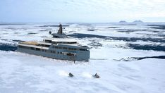 Damen / Amels presents the SeaXplorer - a massive ice-breaking explorer superyacht to go anywhere. Yacht Design, Boat Design, Ski Nautique, Explorer Yacht, Expedition Yachts, Monaco Yacht Show, Yacht Builders, Classic Yachts, Power Boats