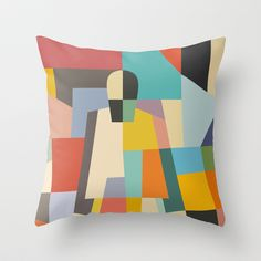 MISTERY WOMAN Throw Pillow by THE USUAL DESIGNERS - $20.00