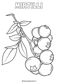 Disegni di Frutta Invernale da Colorare   PianetaBambini.it Fruit Coloring Pages, Coloring Books, Pencil Drawings, Art Drawings, Illustrations, Food Crafts, Digital Stamps, Stencils, Crafts For Kids