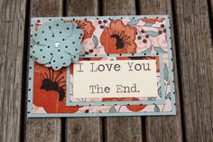 Just Because Card Handmade Card I Love You by Summertimedesign, $4.00